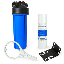 """Whole House Water Filtration Kit With 10"""" Blue Housing and Sediment Filter"""