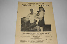 Midget Auto Races Program, Fresno Airport Speedway, Sept 8 1946, Original