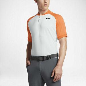 Nike Golf Men's White/Orange Raglan Short Sleeve Polo Shirt