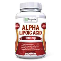 BioGanix Alpha Lipoic Acid Supplement 600mg Capsules w/R-Lipoic Acid - Potent