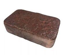 Copper Ingot Large 3 Lb Hand Poured Pure Copper Metal Bullion 4in X 2.5in X 1in