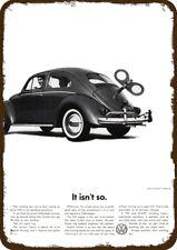 1960 VOLKSWAGEN VW BEETLE Car Vintage Look Replica Metal Sign - TOY WINDING KEY