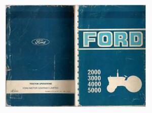 Ford 2000 3000 4000 5000 Tractors Operators Manual
