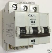 MEM 10 AMP tipo C 10A TRIPLA POLE TRIFASE MCB 103mc Bill t103c Eaton 103mb3 M9