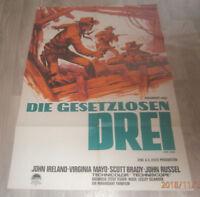 A1 Filmplakat DIE GESETZLOSEN DREI ,JOHN IRELAND,VRIGINIA MAYO,SCOTT RUSSEL