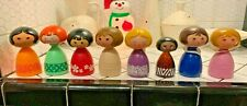 8 Vtg Avon Small World Doll Decanters Disney Disneyland Shampoo Bubble Bath