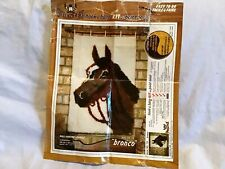 PHENTEX Bronco Latch Hook Kit #50 / 16 18 X 27 Vintage *AS IS- NEEDS SOME YARN*