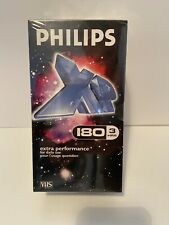 Phillips E-180 XP Blank VHS Tapes X3 Pack Rare Vintage NEW/SEALED