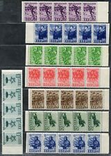 Russia. Sc. 824-31. SK.694-701. Full set in rare strips of 5. MNHOG. EV $500.00+