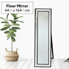 160x40cm Cheval Mirror Black Decorative Free Standing Modern Home Decor Bedroom