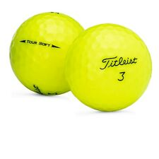 48 Titleist Tour Soft Yellow Used Golf Balls Near Mint AAAA Free Shipping