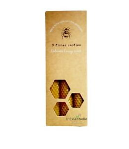 Beeswax Candles Set Of 3 20cm