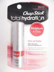 ChapStick Total Hydration Moisture + Tint Merlot Tinted Lip Balm Tube - 0.12 oz.