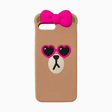 LINE FRIENDS Character Apple iPhone 7 Plus Silicone Case PINK SUNGLASSES CHOCO