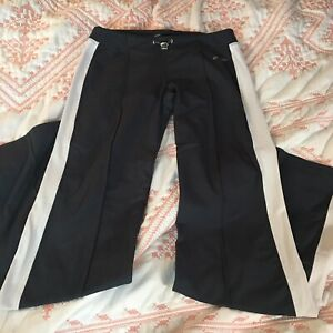 Bebe Sport Workout Track Pants Gray And White Womens Size Small