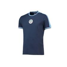 Manchester City Men's T-Shirt Football Heritage Retro T-Shirt - Navy - New