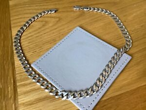 Heavy Solid Sterling Silver Curb Chain Necklace..Weighs 65 grams