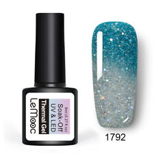 LEMOOC 8ml Nail UV Gel Polish Thermal Color Changing Soak off UV/LED Gel Nail