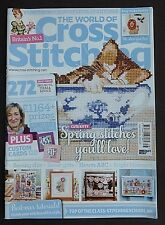World Of Cross Stitching, February 2016, Spring Stitches, Gifts, Bright Blooms.