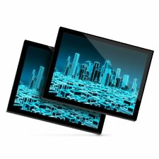 2 x Glass Placemats 20x25 cm - 3D Holographic City Urban  #2399