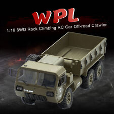 1:16 Front LED Light 6WD RC Car Off-road Military Rock Crawler Monster Truck Toy
