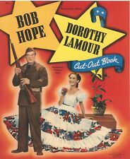 Vntg 1942 Bob Hope Lamour Paper Doll Lasr Reproductin~Uncut Lo Pr No1 Sel Free S