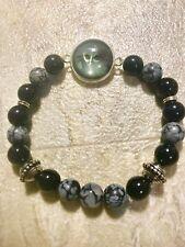 Chakra Balance Natural Stone Grey Alien 👽 Bracelet
