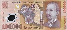 Rumänien / Romania 100.000 Lei 2001 Pick 114 (1) Polymer