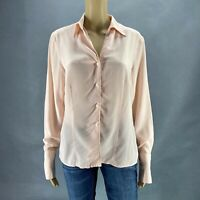 Jones Wear Essentials Women Silk Shirt Top Blouse Button Up Career Sz 10