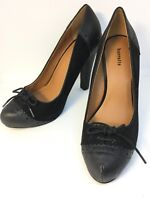 Barratts Ladies Size 6 Black Bow Court High Heels Shoes EU 39