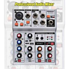 Professional Audio Mixer Usb Bluetooth Record Computer Playback 4 Channels Mic