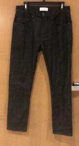 FIVEFOUR Men's Raw Denim Jeans Black Denim Cotton Stretch New With Tags Size 31