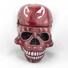 3 Piece Trinket Box Skull Ashtray - Red Carving