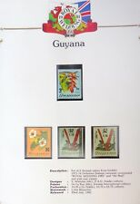 GUYANA Royal Wedding OPT's On Orchids 15 Stamps Very High Cat U/M AH273