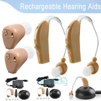 Digital Hearing Aid Severe Loss Invisible BTE Ear Aids High-Power Rechargeable