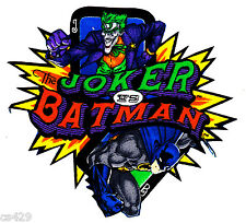 "5"" Batman & joker comics wall safe fabric decal cut character"