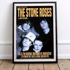 More details for the stone roses 1989 early concert poster three print options or framed poster