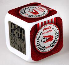 Réveil numerique Digital NIMES OLYMPIQUE Cube à effet lumineux alarme football