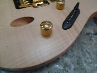 1 Ibanez Metal Control Knob Push on Type GOLD EGEN8 FR365 RG08LTD RGIX20FEQM