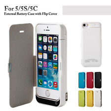 4200mAh Battery Charger Case Power Bank w/Flip Cover for iPhone 5/5S/5C/SE