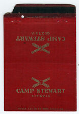 CAMP STEWART Fort GEORGIA US Army LIBERTY Bryan County MATCHBOOK Cover MILITARY