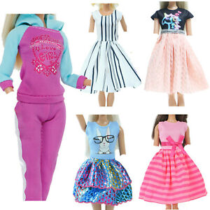 5 set Fashion Doll Clothes Gym Outfits Ball Dance Dress for 11.5 inch Girl Doll