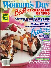 1990 Woman's Day Magazine: Best Ice Cream Pie of 1990/Curing Skin Problems