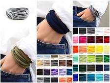 7er Paket Wickelarmband Wunschfarbe, Stoffarmband, Freundschaftsarmband, unisex