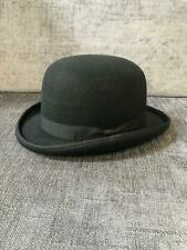 High Quality Wool Mens Black Bowler Hat Large size 60