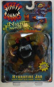 Vintage 1996 Mattel Street Sharks Night Fighters Hydrofire Jab NIB/MOC