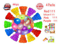 4 packs 444 Bunch Water Balloons Self-Sealing Already Tied, Fun Summer Pool Toy
