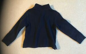 Boys Ralph Lauren Polo Pull Over Size Sz 4 4T Navy Blue Sweater Long Sleeves