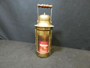 BRASS NAUTICAL BINACLE LAMP PAT 1917 REPLICA