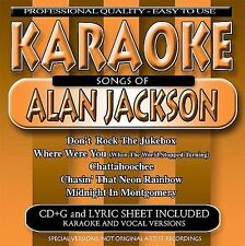 FREE US SHIP. on ANY 2 CDs! NEW CD Karaoke: Songs of Alan Jackson Karaoke